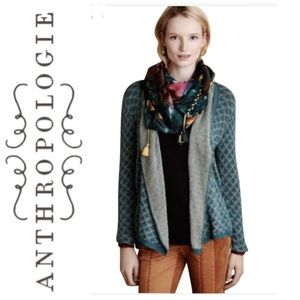 Knitted & Knotted Anthro Islay Open front cardigan